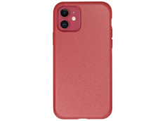 Coque iPhone 12 Mini Silicone Biodégradable-Rouge