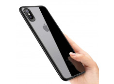 Coque iPhone X Black Flex