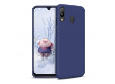 Coque Samsung Galaxy A40 Blue Navy Matte Flex