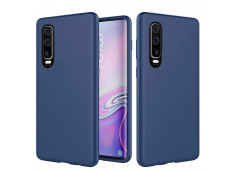 Coque Huawei P30 Blue Navy Matte Flex