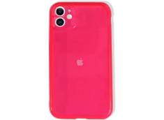 Coque iPhone 7 Plus / iPhone 8 Plus Clear Hybrid Fluo Rose