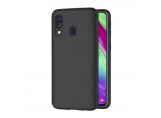 Coque Samsung Galaxy A40 Black Matte Flex