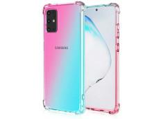 Coque Samsung Galaxy S20 Ultra Clear Shock Gradient Pink Blue