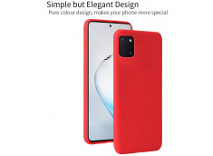 Coque Samsung Galaxy A71 Red Matte Flex