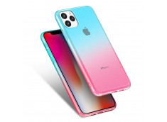 Coque iPhone 11 Pro Clear Shock Gradient Pink Blue