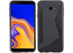 Coque Samsung Galaxy J4 Plus Silicone Grip-Noir