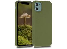 Coque iPhone 11 Silicone Biodégradable-Vert Armée
