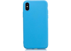 Coque iPhone XR Sky Blue Matte Flex