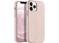 Coque iPhone 12/12 Pro Silicone Gel-Rose Des Sables