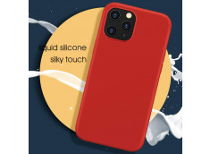 Coque iPhone 12/12 Pro Silicone Gel-Rouge