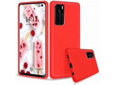 Coque Huawei P40 Red Matte Flex