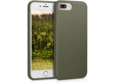 Coque iPhone 7 Plus/8 Plus Silicone Biodégradable-Vert Armée