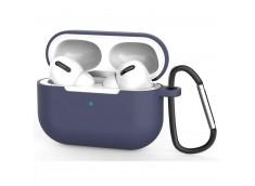 Pochette Silicone for Airpod 3 avec Crochet -Bleu Marine