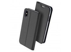Etui iPhone X/XS Smart Premium-Gris Anthracite