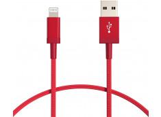 Câble Lightning 3 Mètres Nylon-Red