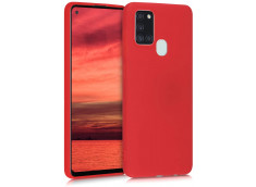 Coque Samsung Galaxy A21S Red Matte Flex