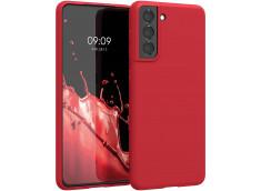 Coque Samsung Galaxy S21 Red Matte Flex