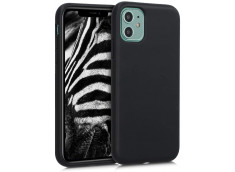 Coque iPhone 12/12 Pro Silicone Biodégradable-Noir