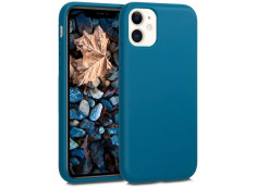 Coque iPhone 13 Silicone Biodégradable-Bleu