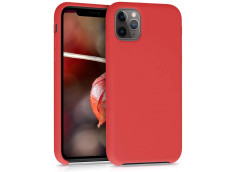 Coque iPhone 11 Pro Silicone Gel-Rouge