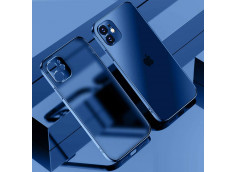 Coque iPhone 12/12 Pro Metal Clear Blue Navy