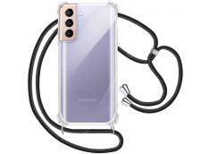 Coque Samsung Galaxy S21 Necklace Clear Shock + 1 tour de cou offert