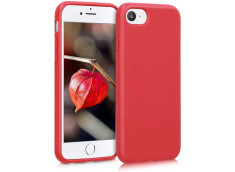 Coque iPhone 6/7/8/SE 2020 Silicone Biodégradable-Rouge
