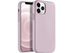 Coque iPhone 12/12 Pro Silicone Gel-Mauve