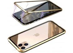 Coque iPhone 11 Pro Magnétique avec Verre Trempé Arrière-Or