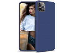 Coque iPhone 12/12 Pro Blue Navy Matte Flex