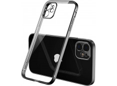 Coque iPhone 12/12 Pro Metal Clear Black