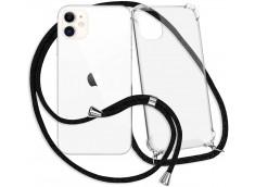 Coque iPhone 11 Necklace Clear Shock + 1 tour de cou offert