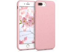 Coque iPhone 7 Plus/8 Plus Silicone Biodégradable-Rose