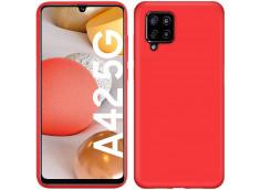 Coque Samsung Galaxy A42 5G Red Matte Flex