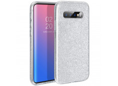 Coque Samsung Galaxy S10 Plus Glitter Protect-Argent