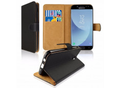 Etui Samsung Galaxy J7 2017 Leather Wallet-Noir