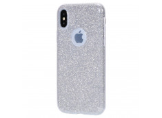 Coque iPhone X/XS Glitter Protect-Argent