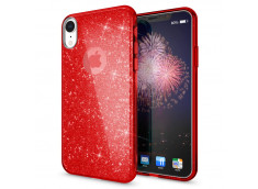 Coque iPhone X/XS Glitter Protect-Rouge
