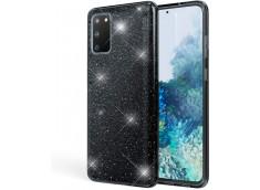 Coque Samsung Galaxy A21S Glitter Protect-Noir