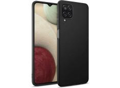 Coque Samsung Galaxy A12 Black Matte Flex