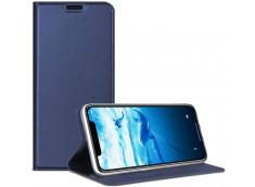 Etui Huawei Y6 2019 Smart Premium-Bleu Marine