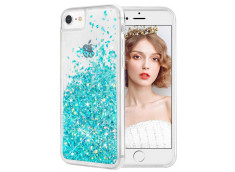 Coque iPhone 5/5S/SE Liquid Pearls-Bleu