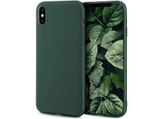 Coque iPhone X/XS Green Matte Flex