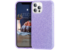 Coque iPhone 12/12 Pro Glitter Protect-Violet