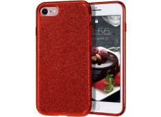 Coque iPhone 7 / iPhone 8/SE 2020 Glitter Protect Rouge