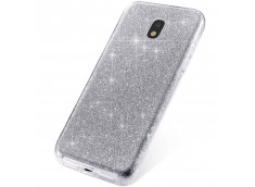 Coque Samsung Galaxy J3 2017 Glitter Protect-Argent