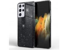 Coque Samsung Galaxy S21 Glitter Protect-Black