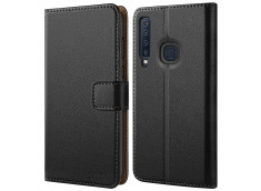 Etui Samsung Galaxy A8 2018 Leather Wallet-Noir
