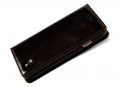 Etui Leather Flip iPhone 6/6S-Marron