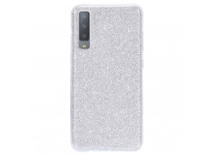 Coque Samsung Galaxy A7 2018 Glitter Protect-Argent